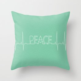 Peace Pulse Minimalist Christmas Throw Pillow