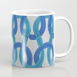 KNIT WIT with Concrete backround texture Coffee Mug