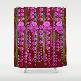 jungle flowers in the orchid jungle ornate Shower Curtain