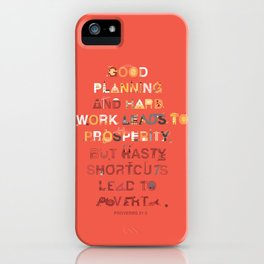 Good planning iPhone Case