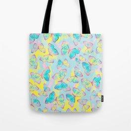 BUTTERFLIES YELLOW Tote Bag