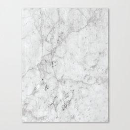 White Marble #629 Canvas Print