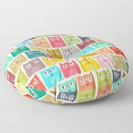 summer cats Floor Pillow