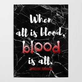 ALL IS BLOOD | NEVERNIGHT Poster