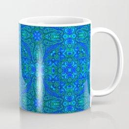 Moroccan Blues Tile Pattern Coffee Mug
