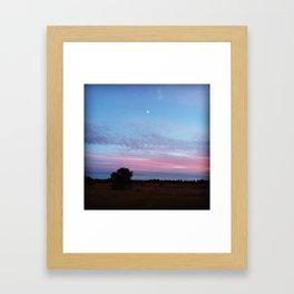 Blueberry Sky Framed Art Print