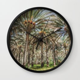 Date Palm Trees in Oman #2 Wall Clock