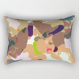 Sketch time - cutout texture Rectangular Pillow