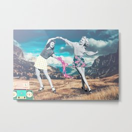 Retrodance Metal Print