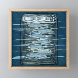 Fish Food Framed Mini Art Print