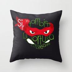 Yo también fui tortuga Throw Pillow