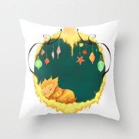 sandman Throw Pillows featuring Sandman Circlet by Z Doodle