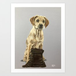 Rosie The Labrador Art Print