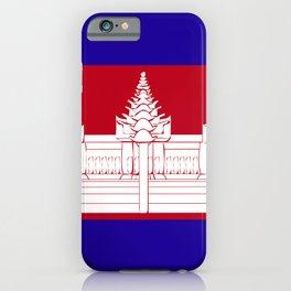 Cambodia flag emblem iPhone Case
