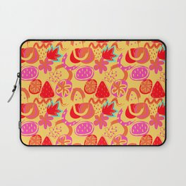 Brushstrokes Abstract - gold brights Laptop Sleeve