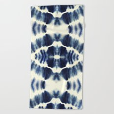 BOHEMIAN INDIGO BLUE Beach Towel