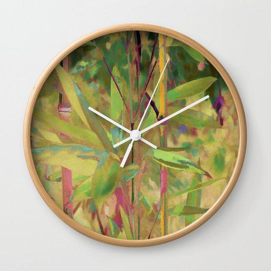 Painted Bamboo Wall Clock