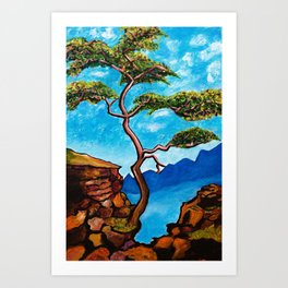 Cypress Tree Art Print
