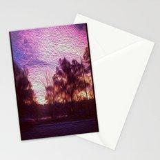 Pink Sunrise Stationery Cards