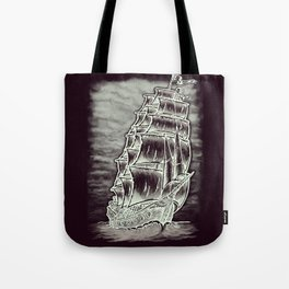 Caleuche Ghost Pirate Ship Variant Tote Bag