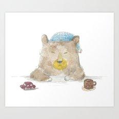 grumpy bear Art Print