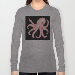 Pink Octopus Long Sleeve T-shirt