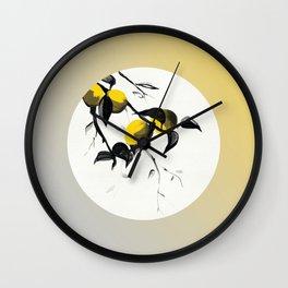 Plums Turn Yellow Wall Clock