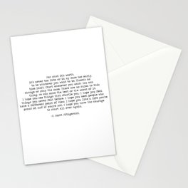 It's Never Too Late- F. Scott Fitzgerald Quote Stationery Cards