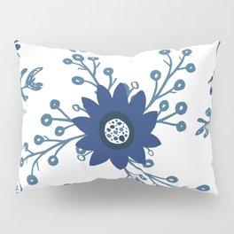 Porcelain Flowers Pillow Sham