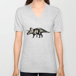 ChocoPaleo: Triceratops Unisex V-Neck