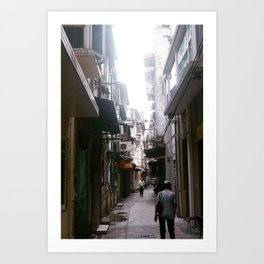 through the alley Art Print
