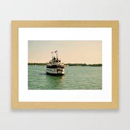 Toronto Island Ferry Framed Art Print