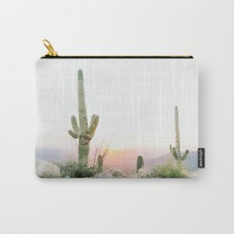 arizona desert print of a saguaro, cactus print, botanical print, cactus wall art Carry-All Pouch