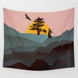 Nature Love Of A Peacful Warrior Wall Tapestry
