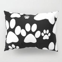 Paw Print Pattern Pillow Sham