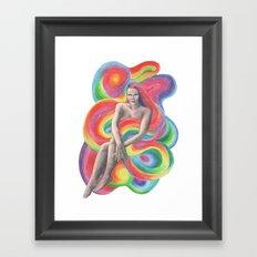 Female hair Framed Art Print