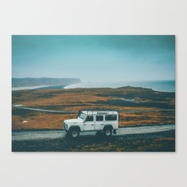 Defender on the Road Canvas Print