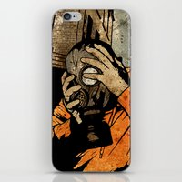 borderlands iPhone & iPod Skins featuring Leroy And The Five Dancing Skulls Of Doom by Matthew Dunn