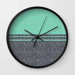 Lucite Green Dots Wall Clock