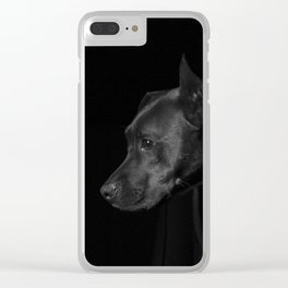 The black dog 7 Clear iPhone Case