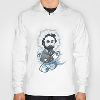 writer Hoodies featuring Jules Verne Holy Writer by roberto lanznaster