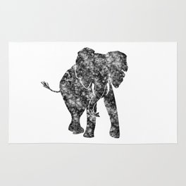 Watercolor African Elephant Rug