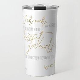 Isaiah 48:17 - Goldie Travel Mug