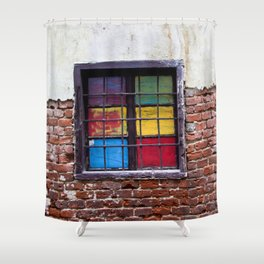 Window of Many Colors Shower Curtain