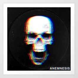 Skeletal Abhorration Art Print