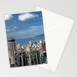 Aerial view at Downtown Vancouver Stationery Cards