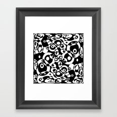 Chaos in black and white Framed Art Print