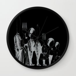 Family Portrait Line-up Wall Clock