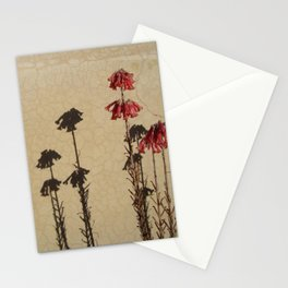 Shadows and flowers Stationery Cards