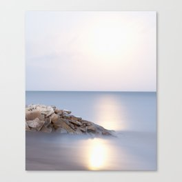 Lake Erie #7, Moonrise Canvas Print